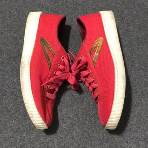 Rare Tretorn Shoes - Red & Gold